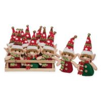 12-Count Crate Elf Ornament Set in Red/Green