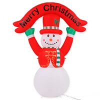 8-Foot LED Snowman Banner Inflatable