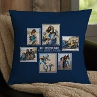 For Him 6-Photo Collage Personalized 18-Inch Square Throw Pillow