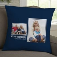 For Her 2-Photo Collage Personalized 18-Inch Square Throw Pillow