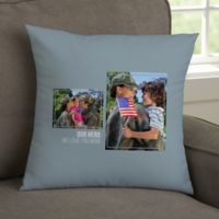 For Her 2-Photo Collage Personalized 14-Inch Square Throw Pillow