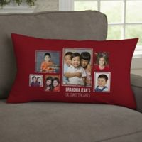 For Her 6-Photo Collage Personalized Lumbar Throw Pillow