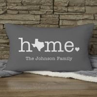 Home Personalized Lumbar Throw Pillow