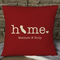 Home Personalized 18-Inch Square Throw Pillow