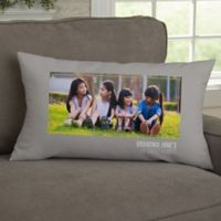 For Her-Photo Personalized Lumbar Throw Pillow