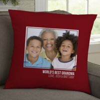 For Her-Photo Personalized 18-Inch Throw Pillow