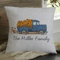 Classic Fall Vintage Truck Personalized 18-Inch Square Throw Pillow
