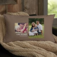 For Him 2-Photo Collage Personalized Lumbar Throw Pillow