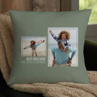 For Him 2-Photo Collage Personalized 18-Inch Square Throw Pillow