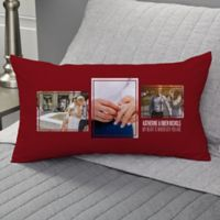 Wedding 3-Photo Collage Personalized Lumbar Throw Pillow