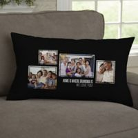 For Her 4-Photo Collage Personalized Lumbar Throw Pillow