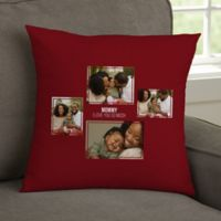 For Her 4-Photo Collage Personalized 14-Inch Square Throw Pillow