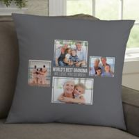 For Her 4-Photo Collage Personalized 18-Inch Square Throw Pillow