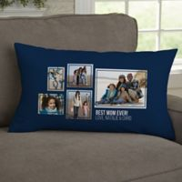 For Her 5-Photo Collage Personalized Lumbar Throw Pillow