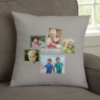 For Her 5-Photo Collage Personalized 14-Inch Square Throw Pillow