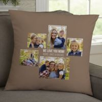 For Her 5-Photo Collage Personalized 18-Inch Square Throw Pillow