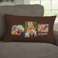 For Her 3-Photo Collage Personalized Lumbar Throw Pillow