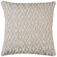 Rizzy Home Frayed Chevron Square Throw Pillow in Natural
