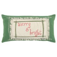 Rizzy Home Merry & Bright Oblong Throw Pillow in Green