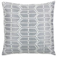 Rizzy Home Geometric Square Throw Pillow in Grey