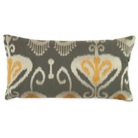 Rizzy Home Ikat Oblong Indoor/Outdoor Throw Pillow in Grey/Yellow
