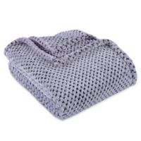 Berkshire Blanket® Frosted Plush Throw in Eggplant