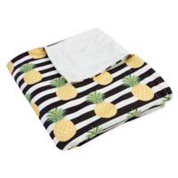 Thro Petra Pineapple Throw Blanket in Black/White