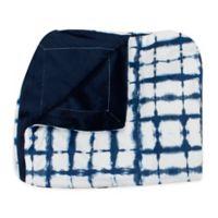 Thro Sheila Shibori Throw Blanket in Blue
