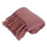 Thro Mack Knit Throw Blanket in Rose