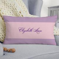Baby Girl's Big Day Personalized Lumbar Keepsake Pillow
