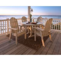 POLYWOOD Vineyard Adirondack 5-Piece Nautical Trestle Dining Set in Sand