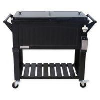 Permasteel 80-Quart Furniture Rolling Cooler in Black
