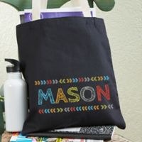 Stencil Name Personalized Tote Bag For Boys