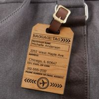 Ticket To Paradise Personalized Wood Bag Tag
