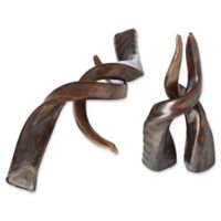 Studio A Home 2-Piece Small Glass Antlers Set