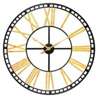 Infinity Instruments The Tower Large 39-Inch Wall Clock in Black