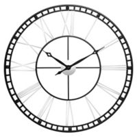 Infinity Instruments Metal Fusion Large Wall Clock in Black