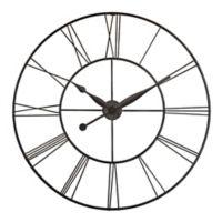 Infinity Instruments Skyscraper XXL 45-Inch Wall Clock in Black