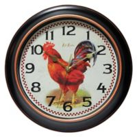 Infinity Instruments Rotterdam Rooster 12-Inch Wall Clock