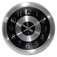 Infinity Instruments Mercury 10-Inch Wall Clock in Black/Silver