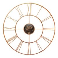 Infinity Instruments Pearle D 45-Inch Round Wall Clock in Rose Gold