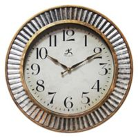 Infinity Instruments Ruche 16-Inch Wall Clock in Gold/Silver