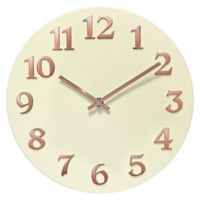 Infinity Instruments Vogue 12-Inch Round Wall Clock in Ivory