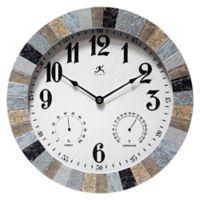 Infinity Instruments Mason 14-Inch Multi-Color Indoor/Outdoor Wall Clock