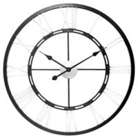 Infinity Instruments Metal Fusion 28-Inch Wall Clock in Black