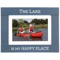 Maiden Lake Happy Place Photo Frame in Navy