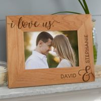 I Love Us Forever Personalized 4-Inch x 6-Inch Picture Frame