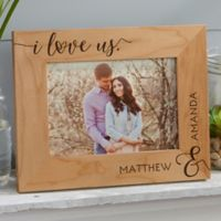 I Love Us Forever Personalized 5-Inch x 7-Inch Picture Frame