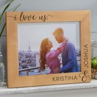 I Love Us Forever Personalized 8-Inch x 10-Inch Picture Frame