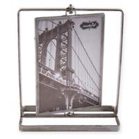 Mud Pie® 5-Inch x 7-Inch Industrial Metal Rotating Frame